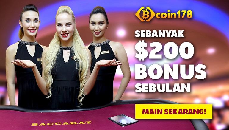 Bermain hingga $200 secara Percuma Setiap Bulan di Coin178 Casino